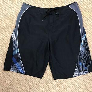 O'Neil Board Shorts Black/Blue Swimwear 34